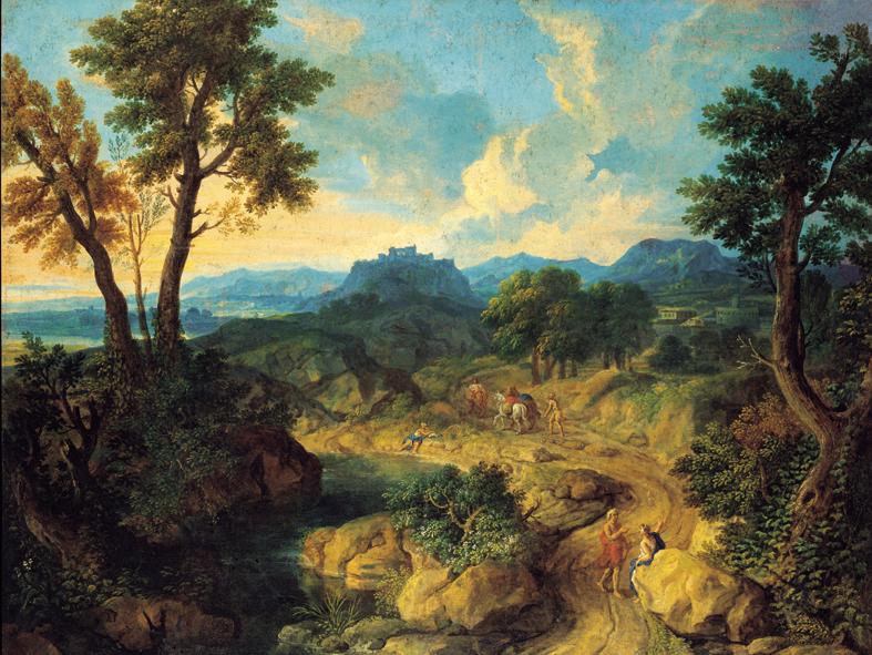 Hercule au jardin des Hespérides (le onzième des travaux d'Hercule); anamorphose=Templier